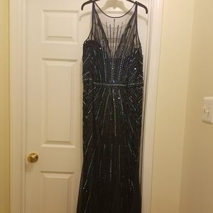Faviana Prom Dress- Full Sequins and Rhinestones